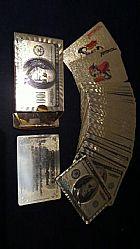 Baralho dourado modelo 100 dolares