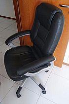 Cadeira escritorio poltrona presidente couro sintetico