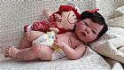 Bebe reborn menina promocao vinil silicone