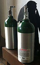 Cilindro de aluminio oxigenio medicinal m9