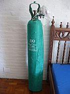 Cilindro oxigenio medicinal 7 mt3 40 lts completo pronto uso