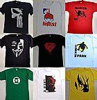 Camisetas de qualidade temas rock skate heroes games