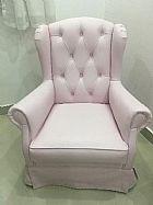 Cadeira de amamentacao gira e balanca rosa bebe  provençal