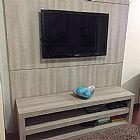 Rack com painel para sala de estar