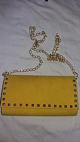 Bolsa feminina festa amarela