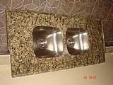Duas cubas inox para pia de marmore