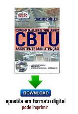 Apostila - assistente de manutenção - concurso cbtu 2016