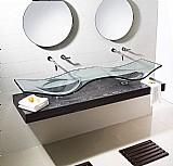 Bancada de vidro - copacabana duplo 180 x 54 cm
