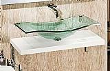 Bancada de vidro - copacabana simples 120 x 50 cm
