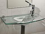 Lavatorio de vidro - clare 60 x 32 cm