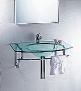 Lavatorio de vidro - clean 80 x 42 cm