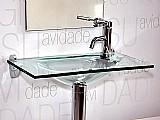 Lavatorio de vidro - reti 60 x 32 cm