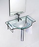 Lavatorio de vidro - square 60 x 38 cm