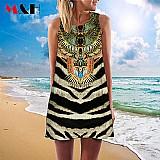 3d copia do vintage vestido de verao 2016 vestidos de verao vestido de praia boemio mulheres vestidos dashiki hippie boho vestidos plus size
