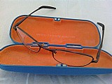 Armacao óculos geek casual executiva miopia grafite prata