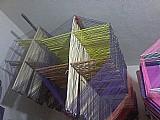 Pipa peixinho pacote 100 armacoes biquinhos de 50 cm  100 folhas