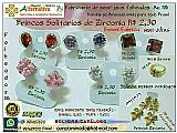 Brincos zirconia solitario r$ 2.30 - semi-joias folheados 18k - somos fabricante
