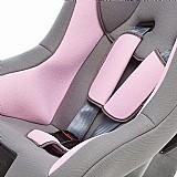 Cadeirinha rosa e assento com cinto para automovel paris - acima de 8 kg na caixa nova
