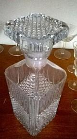 Garrafa cristal em bico de jaca