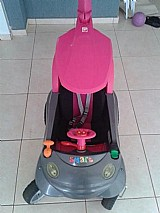 Carrinho de bebe smart baby comfort rosa - bandeirante excelente para pesseios