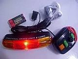 Kit seguranca p/ bicicleta brake light c/ seta e buzina