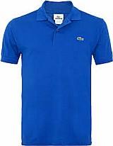 Camiseta polo azul lacoste