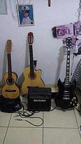 Guitarra memphis e amplificador met