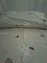 Lencol (jogo cama) casal 3pcs estampado shanadu