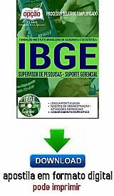 Processo seletivo simplificado ibge 2016 supervisor de pesquisas - suporte gerencial