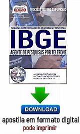 Processo seletivo simplificado ibge 2016 agente de pesquisa por telefone