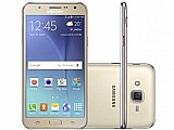 Smartphone samsung galaxy j7 duos 16gb dourado - dual chip 4g cam 13mp   selfie 5mp flash tela 5.5