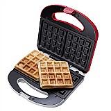Maquina de waffle vermelha 700w waf100 cadence 110v