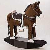Cavalo cavalinho de balanco madeira e pelucia para criancas!