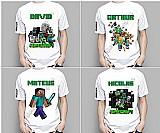 Camiseta infantil criancas minecraft pesonalizada com nome