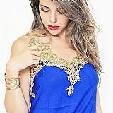 Regatas femininas guipir modas renda dourada viscose roupas