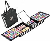 Kit maleta maquiagem sombras 3d jasmyne macrilan 93 itens
