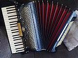Acordeon sanfona stradella italiana 120 bx 4� voz super nova - afinadissima 5 registros