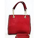 Bolsa vermelha em courino