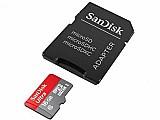 Cartao de memoria micro sdhc 16gb com adaptador - classe 10 sandisk