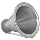 Corneta longa thor jarrao aluminio cromada boca redonda