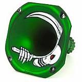 Corneta curta lc-1450 metalizada caveira verde fosco fiamon