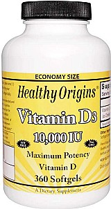 Vitamina d3 10.000 ui 360 softgels healthy origins