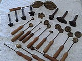 Kit de frisadores de folhas, flores e botoes em ferro e cobre