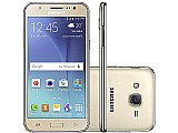 Smartphone samsung galaxy j5 duos 16gb dourado - dual chip 4g cam 13mp   selfie 5mp flash tela 5
