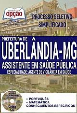 Apostila  assistente em saãºde pãºblica agente de vigilã¢ncia em saãºde - processo seletivo simplificado prefeitura de uberlandia 2016