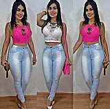 Calca jeans feminina cintura alta hot pants levanta bumbu