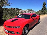 Camaro 2014 v8 vermelho completo