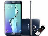 Smartphone samsung galaxy s6 edge  32gb 4g - cam. 16mp   selfie 5mp tela 5.7