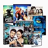Promocao kit com 40 dvds de filmes originais - frete gratis