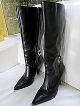 Bota feminina cano alto / longo - couro legitimo - zatta n 36